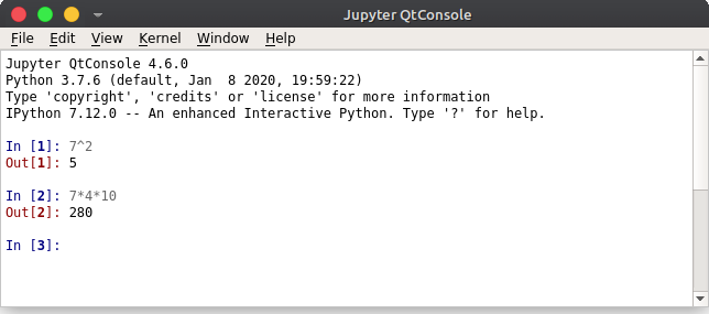 Jupyter Qt Console for Python IDE